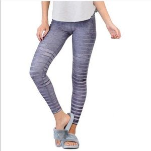Niyama Sol purple striped yoga leggings
